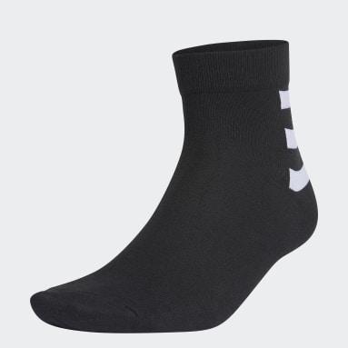ไลฟ์สไตล์ สีดำ ถุงเท้าหุ้มข้อ 3-Stripes (3 คู่)