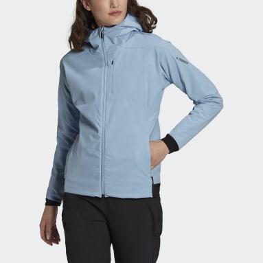 Women TERREX Blue Terrex Ultimate Hooded Fleece