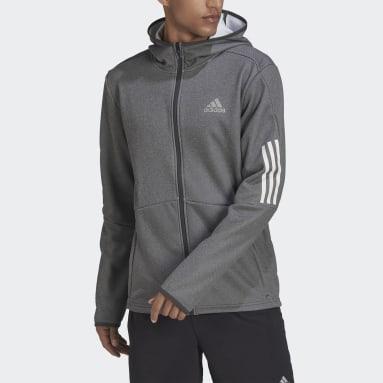 Veste à capuche Full-Zip Gris Hommes Fitness Et Training