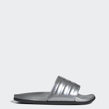 ผู้หญิง Swim สีเงิน รองเท้าแตะ Adilette Comfort