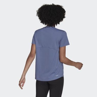 Camiseta Esportiva AEROREADY Designed 2 Move Roxo Mulher Training