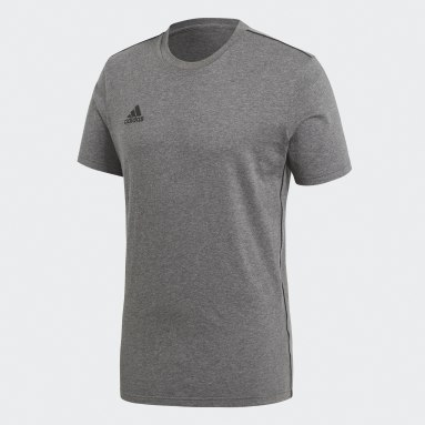 Men Gym & Training Grey Core 18 T-Shirt