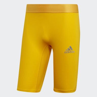 Licras Cortas Alphaskin Sport Amarillo Hombre Fútbol
