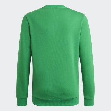 Blusa Moletom Essentials Verde Meninos Training