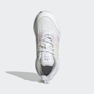 Kids Originals White ZX 2K Boost 2.0 Shoes