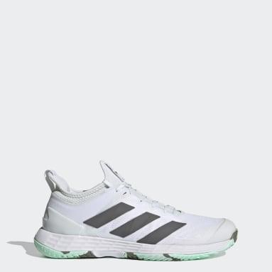 Women Tennis White Adizero Ubersonic 4 Parley Hard  Court Tennis Shoes