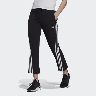 черный Брюки adidas Sportswear Future Icons 3-Stripes Flare