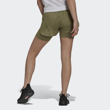 Pantalón corto Parley Mission Kit Run for the Oceans Verde Mujer Sportswear