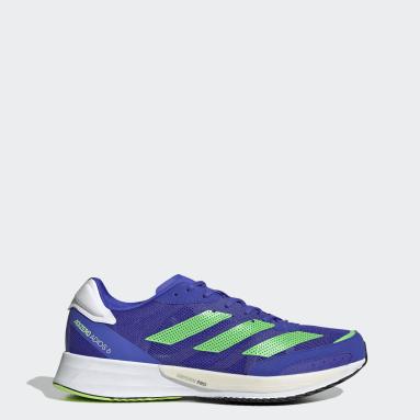 Men Running Blue Adizero Adios 6 Shoes