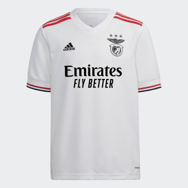 Youth 8-16 Years Football White Benfica 21/22 Away Jersey
