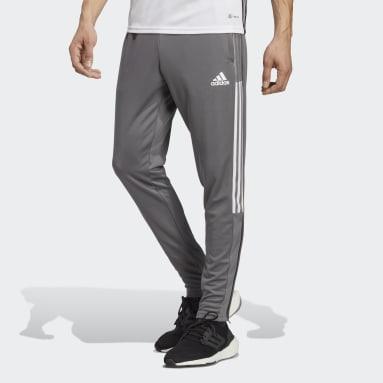 Men Soccer Grey Tiro 21 Track Pants