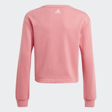 Sudadera adidas Essentials Logo Rosa Niña Sportswear