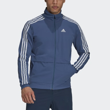 Men Cycling Blue The Trackstand Cycling Track Top