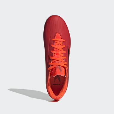 красный Футбольные бутсы X SPEEDFLOW.4 INDOOR