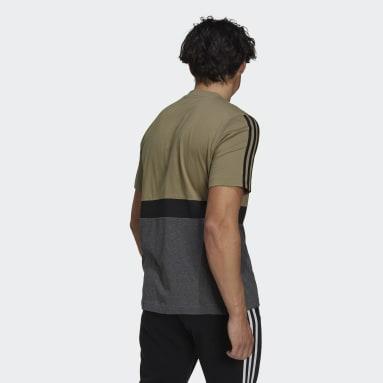 Men Sportswear Green Essentials Colorblock T-Shirt