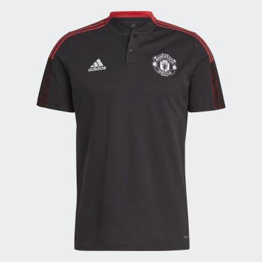 Men Football Black Manchester United Tiro Polo Shirt