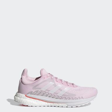 Women Running Pink SolarGlide Shoes