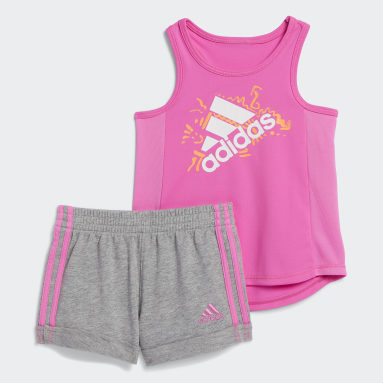 Infant & Toddler Training Pink Badge of Sport Tank Top and Shorts Set