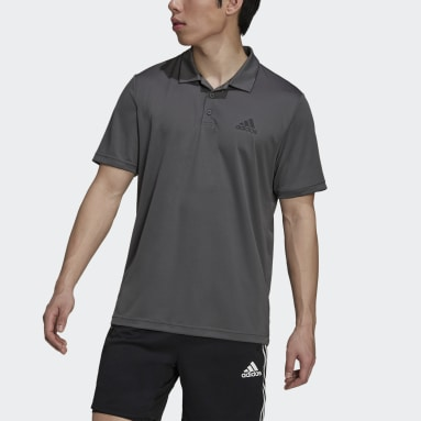 Men Training Grey AEROREADY Designed To Move Sport Polo Shirt