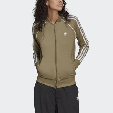 Kvinder Originals Grøn Primeblue SST træningsjakke