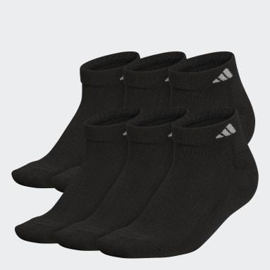 Women's Training Black Athletic Cushioned Low-Cut Socks 6 Pairs