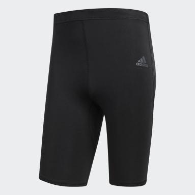Calzas Cortas Response - Tiro Medio Negro Hombre Running