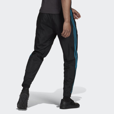 Men Football Black Real Madrid Icons Woven Tracksuit Bottoms