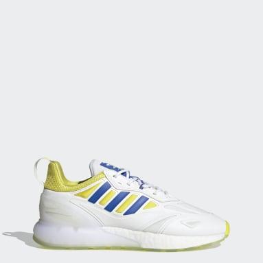 Men Originals White Juventus ZX 2K Boost 2.0 Shoes