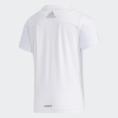 Playera de Entrenanmiento Essentials Summer Blanco Niña Diseño Deportivo