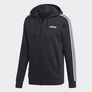 Chaqueta con capucha Essentials 3 bandas Negro Hombre Sportswear