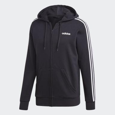 Mænd Sportswear Sort Essentials 3-Stripes hættetrøje