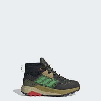 Kids TERREX Green Terrex Trailmaker Mid RAIN.RDY Hiking Shoes