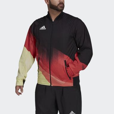 Men Gym & Training Black Team Germany Podium Jacket