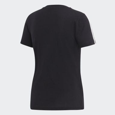 Camiseta Essentials 3 bandas Negro Mujer Sportswear