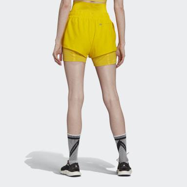 ผู้หญิง adidas by Stella McCartney สีเหลือง กางเกงขาสั้น TRUEPURPOSE High Intensity