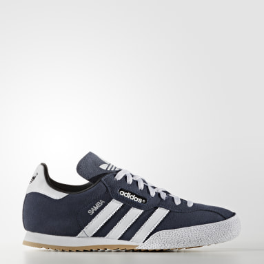 Samba Super Suede Shoes Niebieski