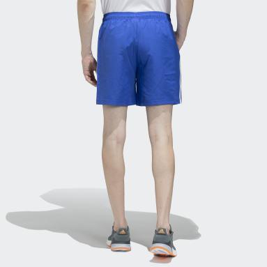 Men Sport Inspired Blue 3-Stripes Chelsea Shorts