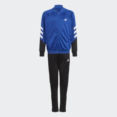 Boys Gym & Training Blue XFG 3-Stripes Tracksuit