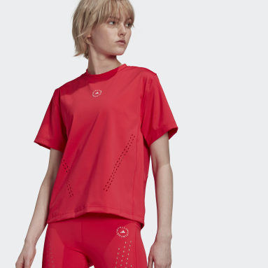 Women adidas by Stella McCartney Pink adidas by Stella McCartney TruePurpose Loose Tee