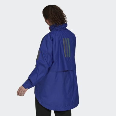 Giacca MYSHELTER Parley WIND.RDY Anorak Viola Donna City Outdoor