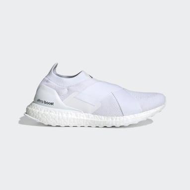 ผู้หญิง วิ่ง สีขาว รองเท้า Ultraboost DNA ทรงสลิปออน