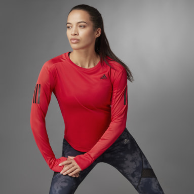 Maglia Own the Run Long Sleeve Rosso Donna Running