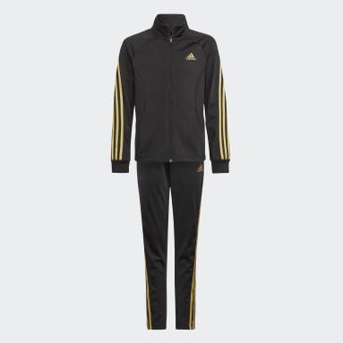Team Polyester Regular 3-Stripes Track Suit Czerń