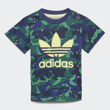 Conjunto pantalón corto y camiseta Camo Azul Niño Originals