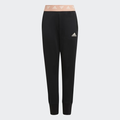Girls Training Black AEROREADY Up2Move Cotton Touch Training Tapered-Leg Pants