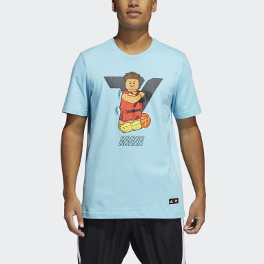 Camiseta Manga Larga Trae Young adidas x LEGO® Turquesa Hombre Basketball