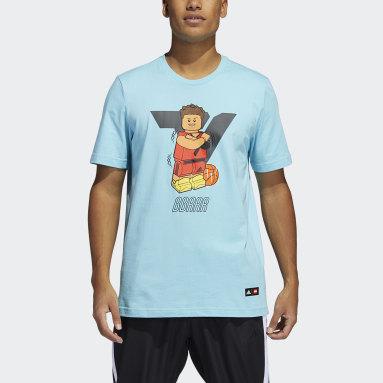 Camiseta Manga Longa adidas x LEGO® Trae Young Turquesa Homem Basquete