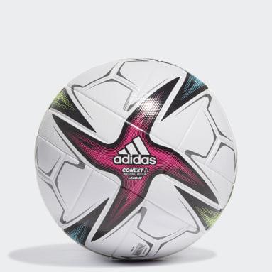 Men's Soccer White Conext 21 League Ball