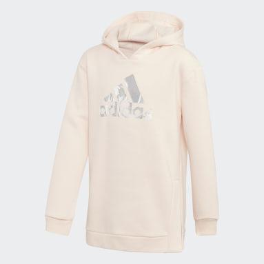 Sweat-shirt à capuche Oversize Rose Adolescents Entraînement