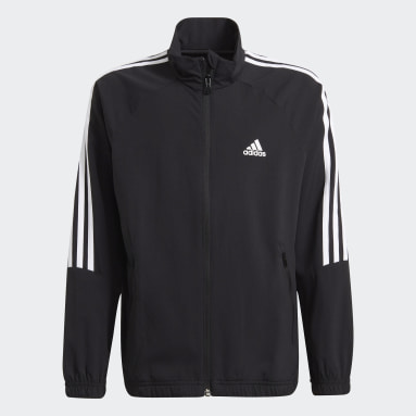 Youth 8-16 Years Gym & Training Black Woven Set
